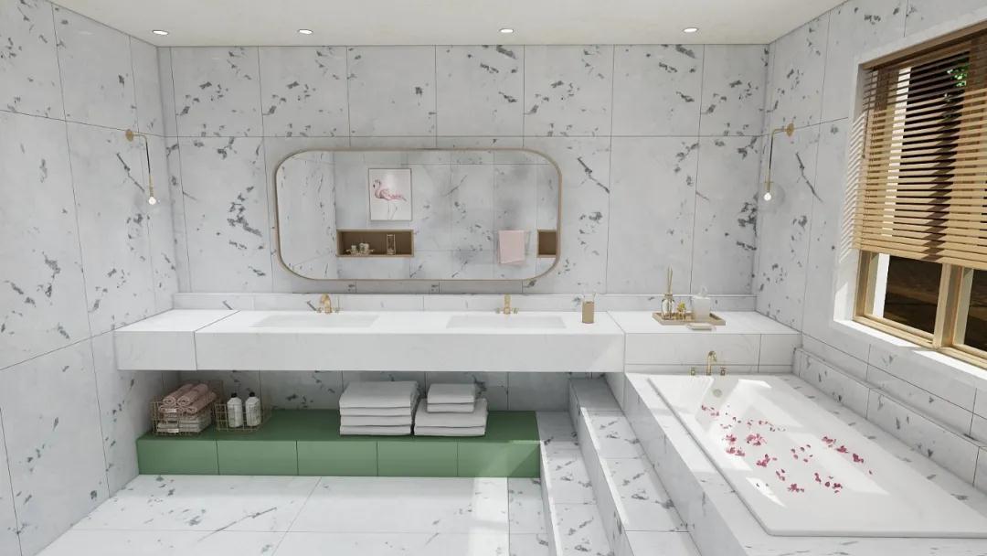 大理石瓷砖爱琴海石空间效果